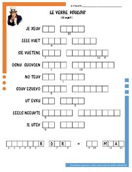 French Irregular Verb Puzzles - VOULOIR