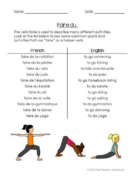French Irregular Verbs Bundle - Aller, Avoir, Être, and Faire