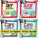 French Irregular Verbs Bundle - Aller, Avoir, Être, and Faire