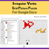 French Irregular Verbs Grid Puzzle For Google Docs
