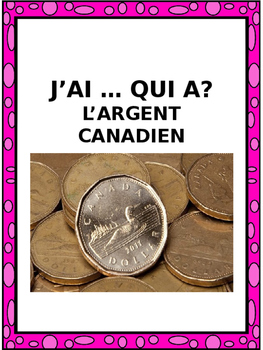 "French: L'ARGENT, ""J'AI ... QUI A?"", Game, Core & Immersio"
