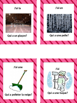 "French: L'HIVER, ""J'AI ... QUI A?"", Game, Core & Immersion: PRIMARY"