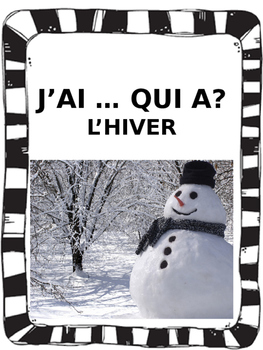 "French: ""J'AI ... QUI A?, L'hiver"", Game, Core & Immersion"