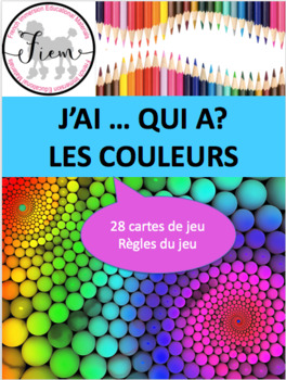 "French: ""J'AI ... QUI A?, Les couleurs"", Game, Core & Imme"