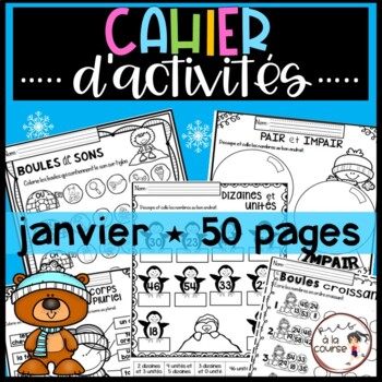French January Worksheets/ Cahier d'activités de janvier