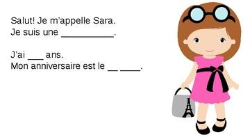French Je Me Présente Read Along Powerpoint