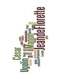 French Jean de Florette Vocabulary Word Cloud