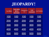 French Jeopardy Game: Fun way to get students engaged in t