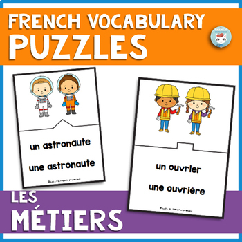 French Jobs Vocabulary Puzzles | LES MÉTIERS French Puzzles