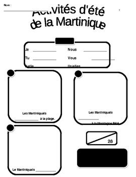 French Jouer, Faire et Aller Martinique Activities WS