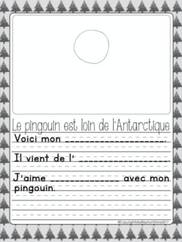 Décembre Journal Prompts Maternelle / Kindergarten FRENCH