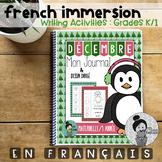 French Writing Prompts - Maternelle (décembre) Première Année