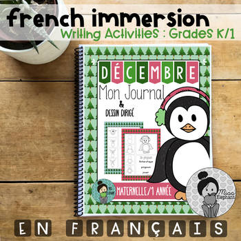 French Journal Prompts Maternelle Kindergarten
