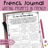 French Journal Writing Ideas - Mon journal quotidien (90 idées pour l'écriture)