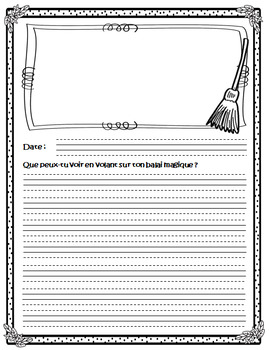 French Journal Writing Prompts Workbook - Version 1