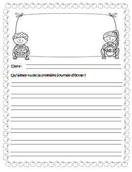 French Journal Writing Prompts Workbook - Version 2