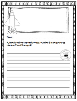 French Journal Writing Prompts Workbook - Version 3