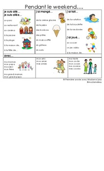 French Journal Writing Word Mat
