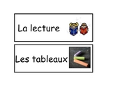French Kindergarten Classroom Center Activity Labels