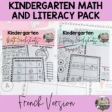 French Kindergarten Math and Literacy Distance Learning Bundle
