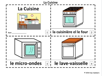 French Kitchen 2 Emergent Reader Booklets - La Cuisine