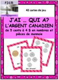 "French: L' ARGENT, ""J'AI ... QUI A?"", Jeu, Core & Immersion: PRIMARY"