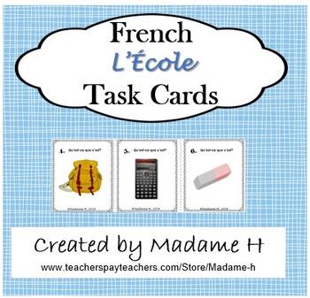 L'École Task Cards
