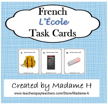 French L'École Task Cards