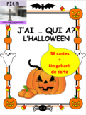 """French: L'HALLOWEEN """"J'AI ... QUI A?"""", Game: PRIMARY"""