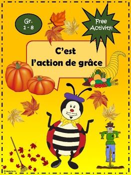 French: L'action de grâces