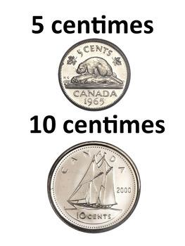 Math & Mesure: L'argent canadien, Cartes éclairs & activités, PRIMAIRE