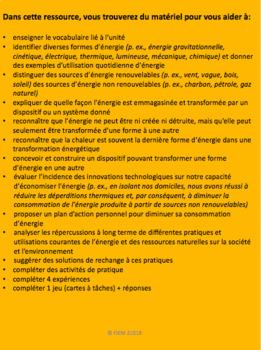 French: L'économie de l'énergie et des ressources, Gr.5, Sciences, 149 slides