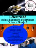 """French: """"L'électricité et les dispositifs électriques"""", Sc"""