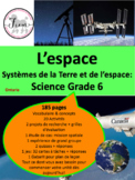 "French: ""L'espace"", Sciences, Grade 6, space"