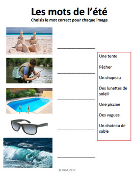 French: L'été: 17 Activités, Langage, écriture, bricolage: NO PREP!