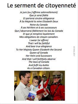 """French: """"L'expérience canadienne: hier et aujourd'hui"""" Grade 6, 100 slides"""