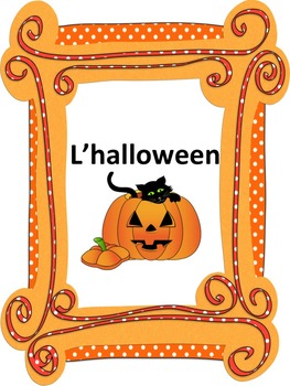 French: L'halloween, Cartes éclairs & activités, French Core & Immersion