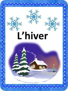 French: L'hiver, Cartes éclairs & activités, Core & French
