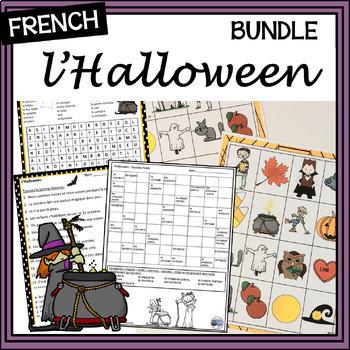 French L'Halloween BUNDLE – activities