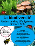 "French: ""La Biodiversité"", Sciences, Grade 6"