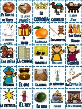Spanish: El Día de los Reyes BINGO