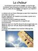 """French: """"La chaleur dans l'environnement"""", Sciences, Grade 7, 103 slides"""