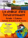 """French: """"La chaleur dans l'environnement"""", Sciences, Grade"""