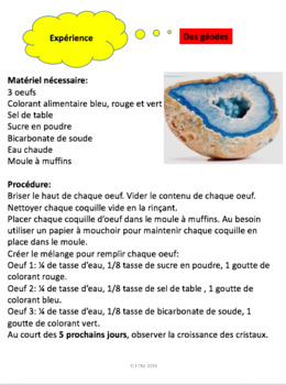 "French: ""La croûte terrestre"", Sciences, Grade 7, 110 slides"