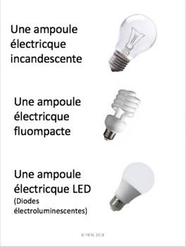 """French: """"La lumière et les sons"""", Cartes éclairs et activités, Science"""