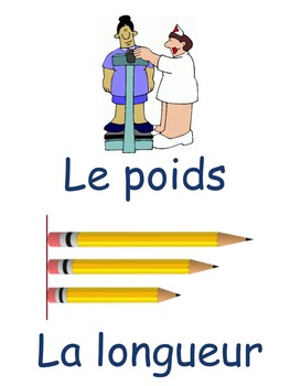 French: La mesure, Cartes éclairs, PRIMAIRE French Immersion