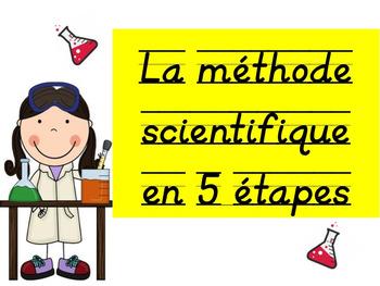 """Sciences: """"La méthode scientifique en 5 étapes"""", French"""