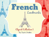 French Landmarks Clipart Collection I