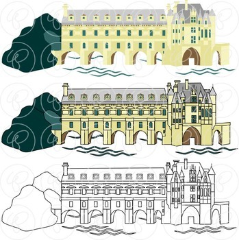 French Landmarks Clipart by Poppydreamz
