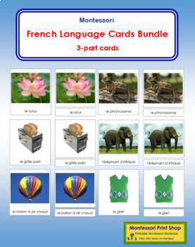 French Language Cards Bundle